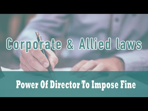 The Prevention of Money Laundering Act, 2002 | Power of Director to Impose Fine | Part 2