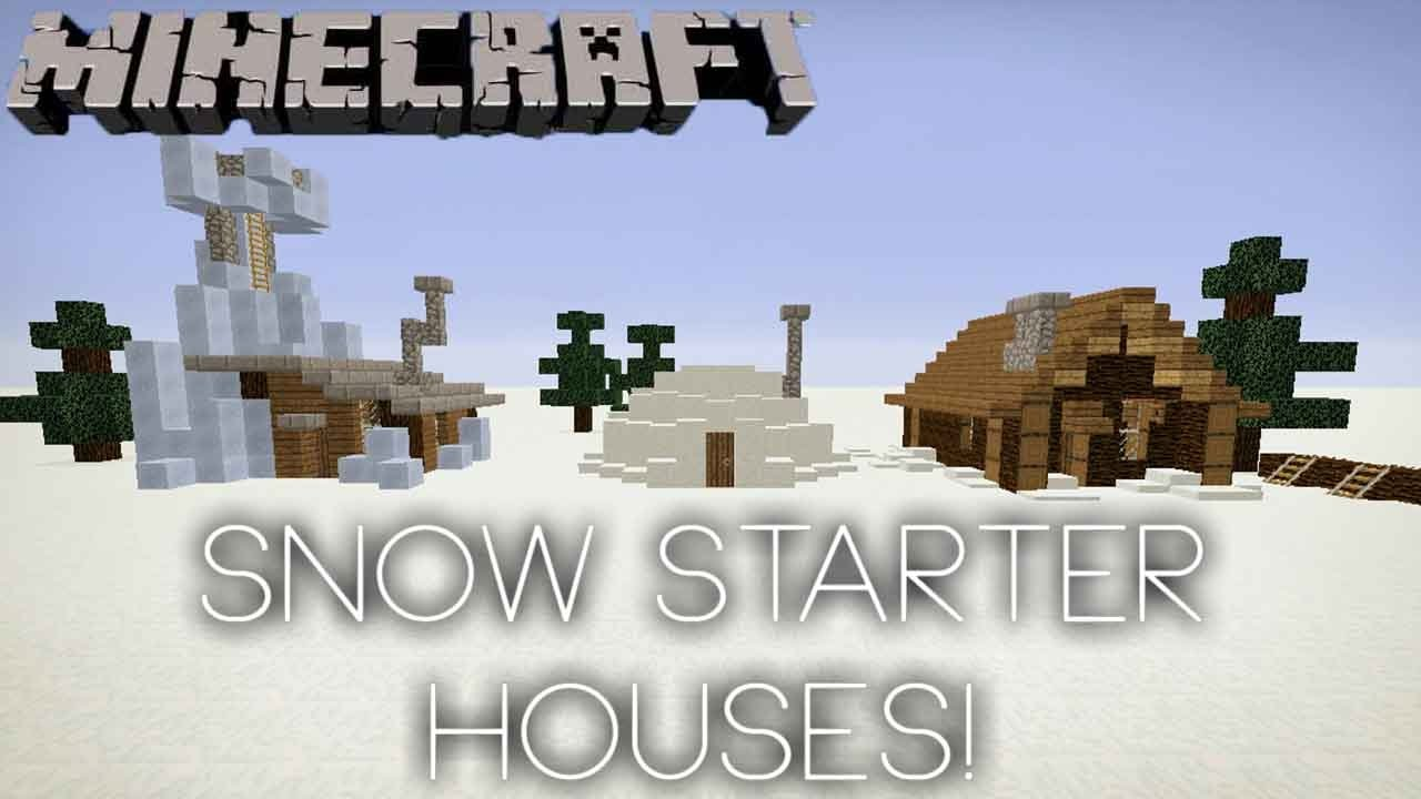 Minecraft - 11 Easy, Small Snow Starter Houses!