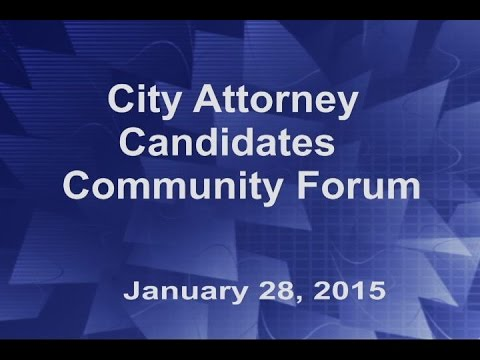 City Attorney Candidates Community Forum