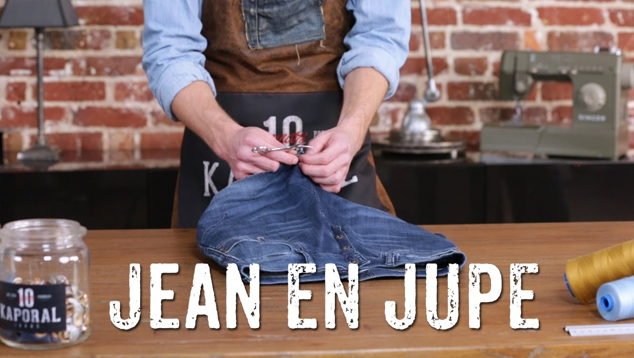 Comment Transformer Un Jean En Jupe ?  Youtube