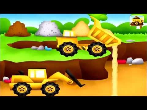 เกมส์รถตักดินรถบรรทุกรถปูน-Trucks by Duck Duck Moose