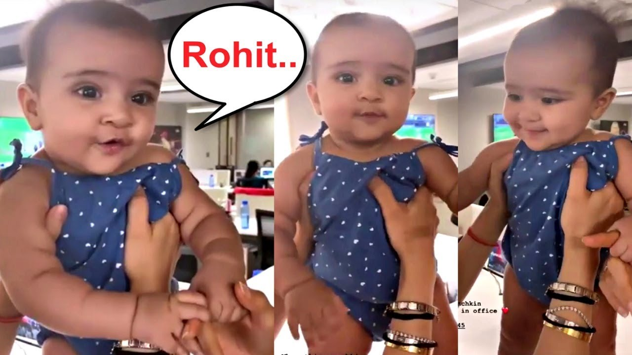 Rohit Sharma Daughter Samaira Sharma Trying To Says Rohit Is Adorable Youtube