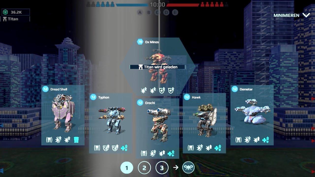 War Robots: Giveaway Winners + Typhon, Orochi, Hawk, Minos Gameplay    #WRwinTyphon