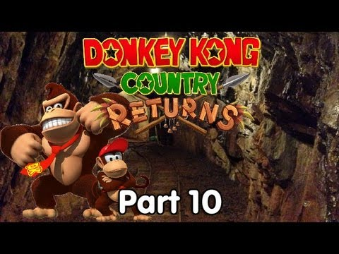 Let's Play Donkey Kong Country Returns - #10. Mine Cart Carnage...LITERALLY!