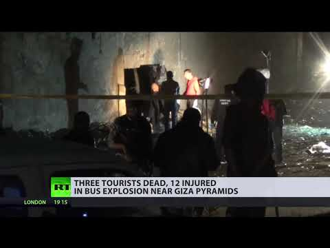 At least 3 dead, 11 injured in tourist bus blast near Giza pyramids in Egypt