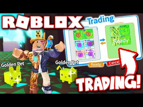 "NEW GOLD PETS + TRADING in PET SIMULATOR UPDATE 2!! *Combine 10 Pets into 1 OP GOLD Pet!"" (Roblox)"