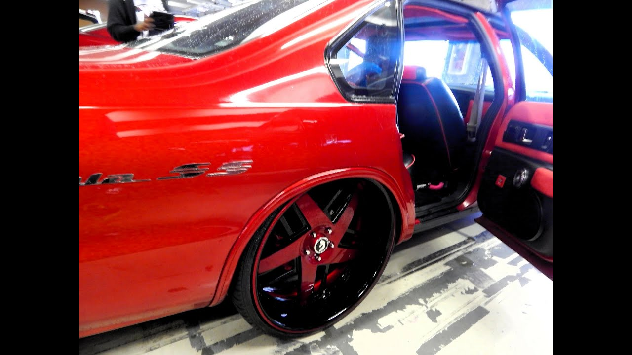 Gtr Red Bubble Impala Ss On 24 Forgiatos Jammin At