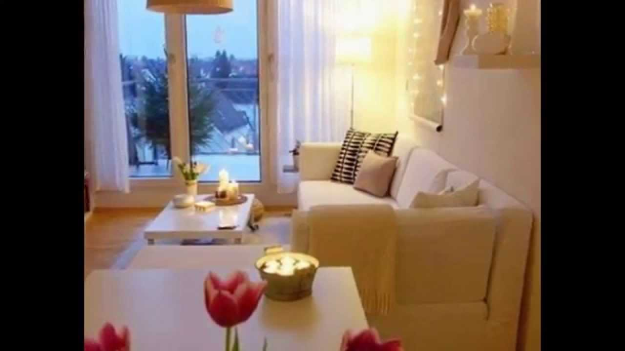 How to make a cozy small living room youtube - Small space livingroom ...