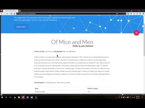 Book Search application - Using semantic web