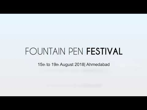 Glimpse from Gujarat's first FOUNTAIN PEN FESTIVAL 2018 held in Ahmedabad.