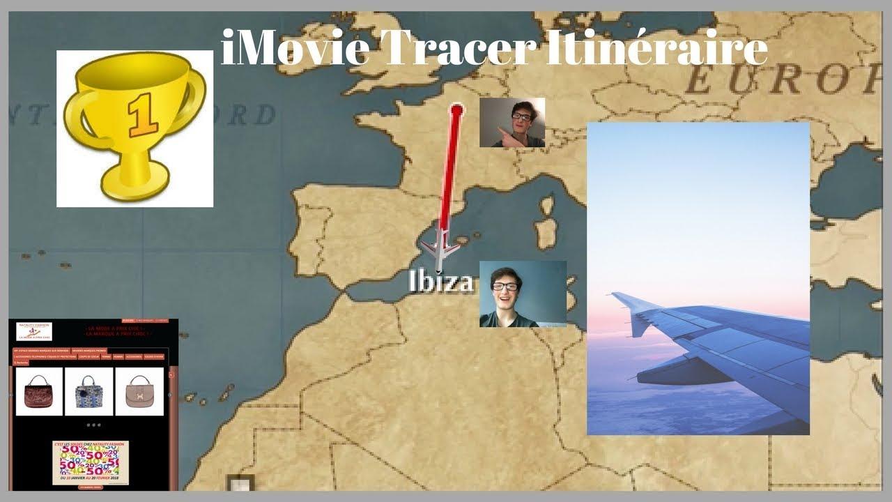 tracer itinéraire sur carte routière iMovie tracer un itinéraire de voyage sur une carte (tuto)   YouTube