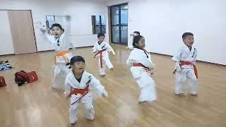 バディスポーツ幼児園空手道部の稽古❗大旋脚‼️