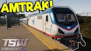 NOOB DRIVES AMTRAK TRAIN INTO NEW YORK! - Train Sim World Gameplay - Train Simulator 2018