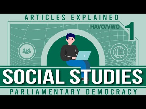 Articles explained Parliamentary Democracy