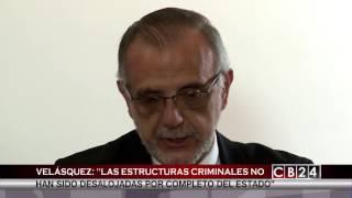 Comisionado Velásquez conversa para el canal centroamericano de noticias CB24