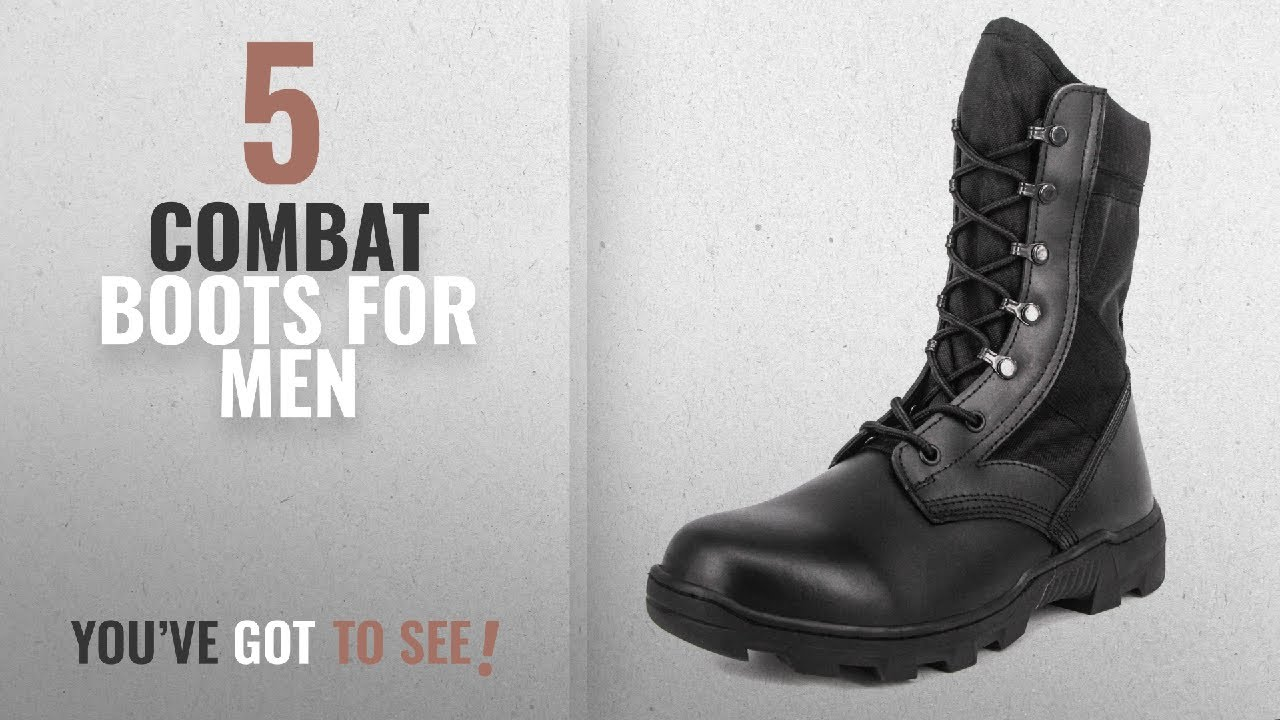 "Men's Tactical Boots 6"" inch Lightweight Breathable Military Boots for Hiking Work Boots"