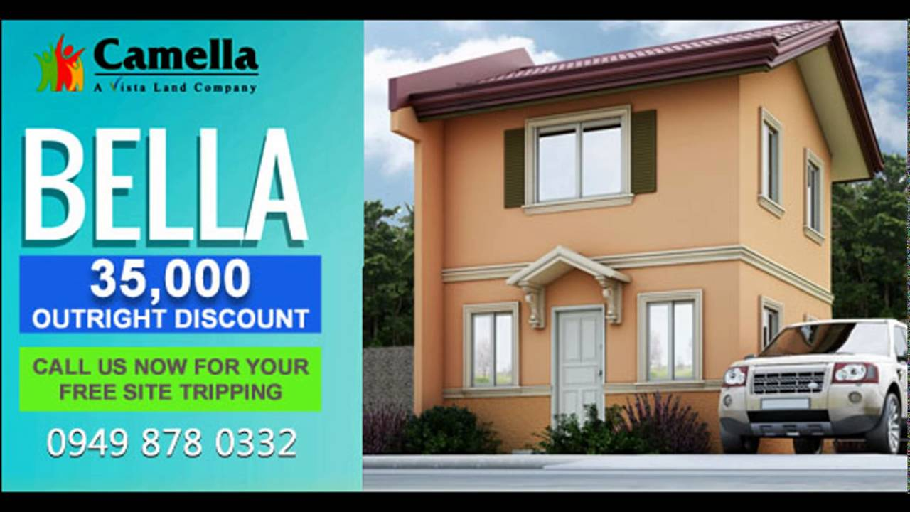 Bella the newest model in Camella 35k Outright discount - YouTube