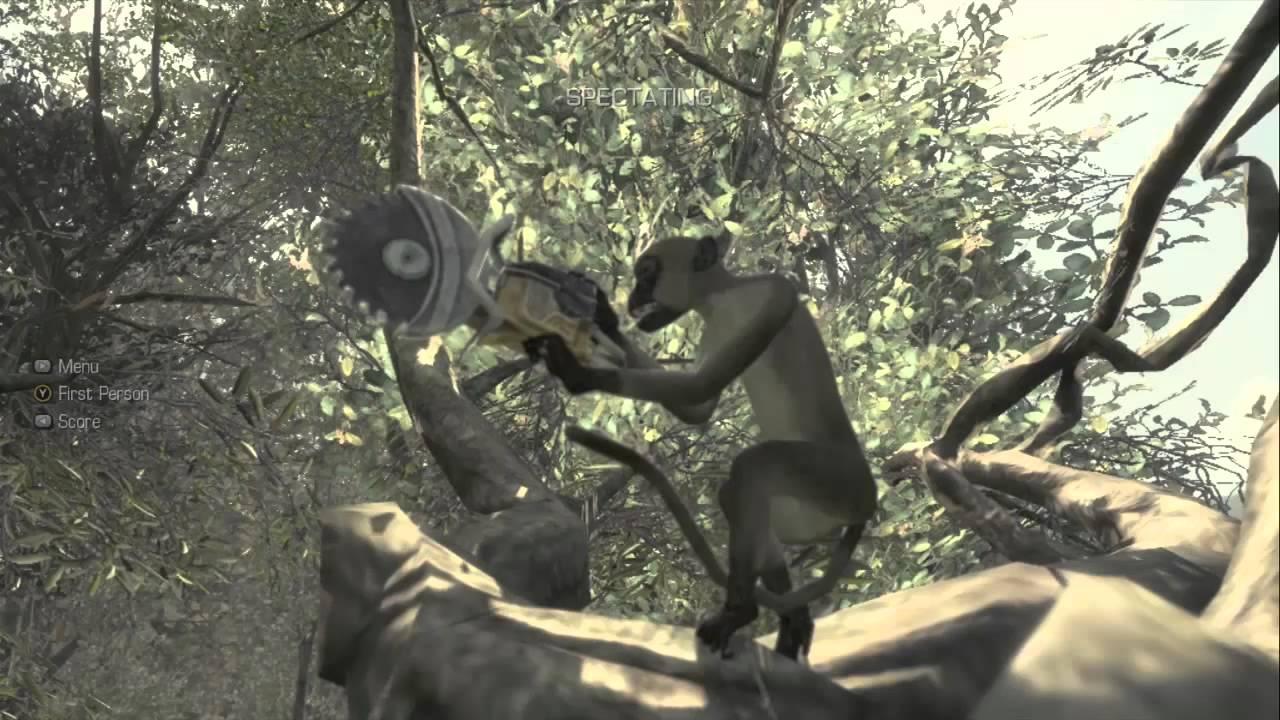 Call of Duty: Ghosts - Killer Monkey Easter Egg - YouTube