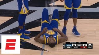 Kevin Durant rolls ankle late in Warriors' Game 3 win over Spurs | ESPN
