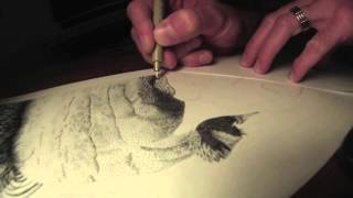 Johnny Cash Time Lapse Drawing by Jeffrey St. Romain