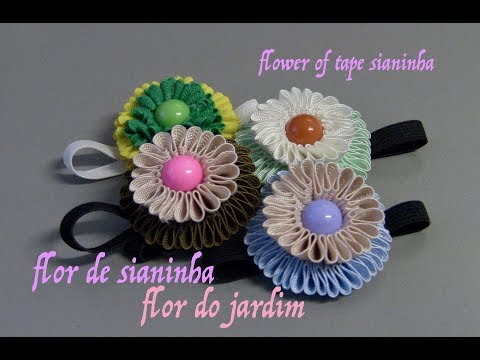 DIY- Flor de fita sianinha -flower of tape...