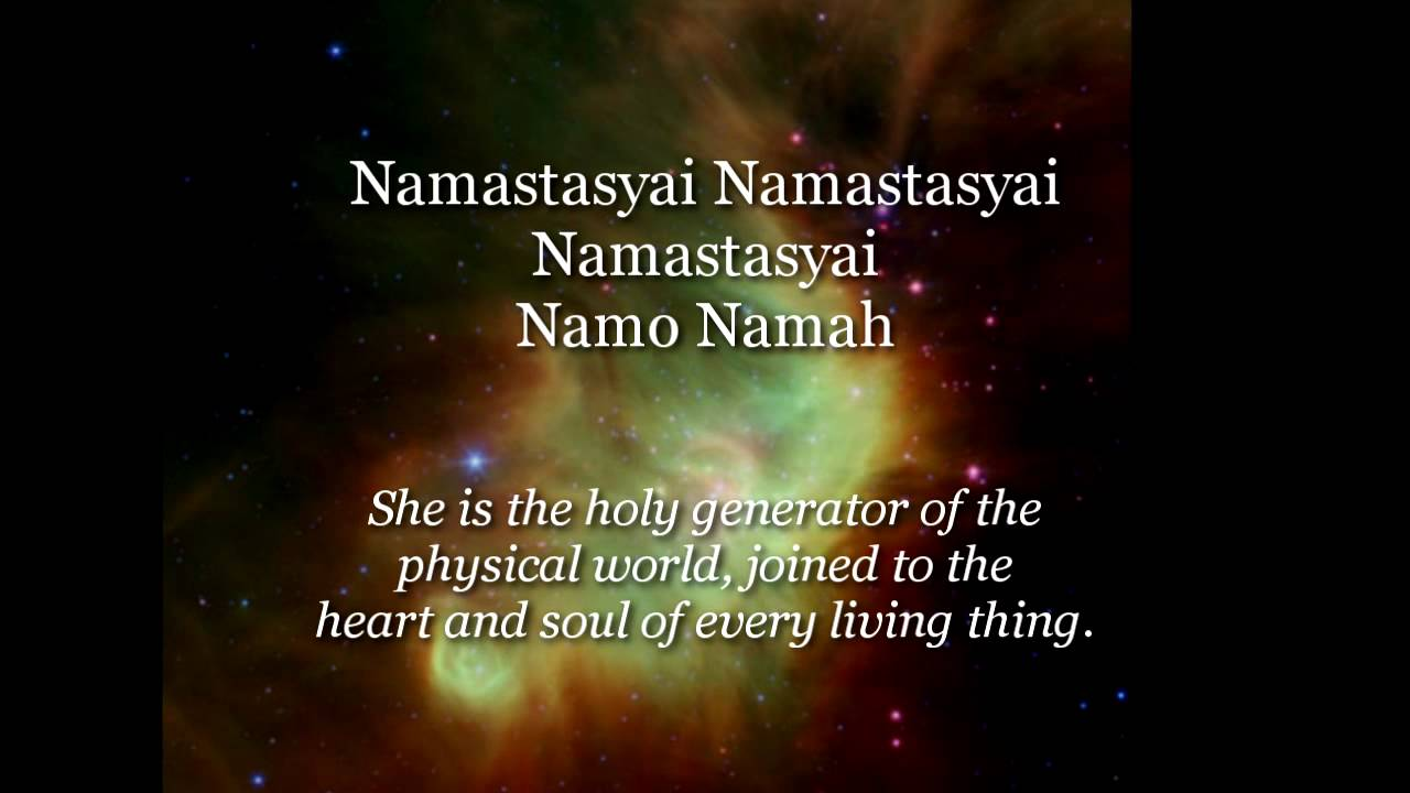 devi prayer hymn to the divine mother youtube