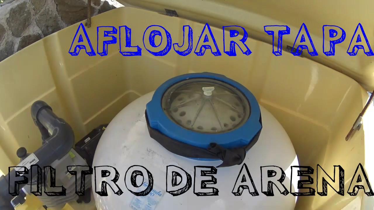 Como aflojar la tapa del filtro de arena en una piscina for Tapa depuradora piscina