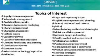 International Journal Of Managing Value And Supply Chains Ijmvsc