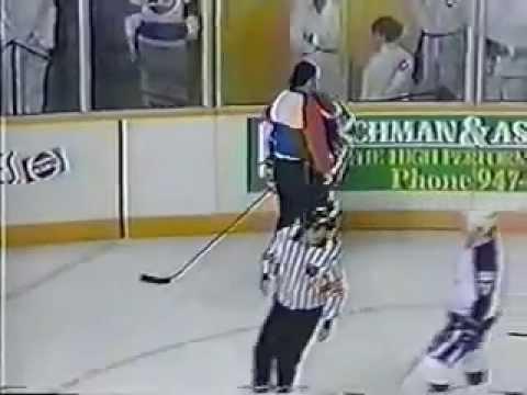 Paul MacDermid Hits Mark Messier (Game 3 Of '90 Playoffs) - Apr-08-1990