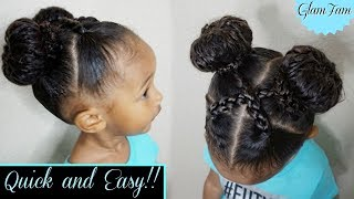 Quick and Easy hairstyle for Kids!   Children's Hairstyles   GlamFam