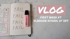 GLASGOW SCHOOL OF ART // first week at university // vlog#1
