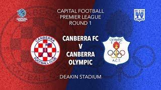 2019 Capital Football Premier League - U20\'s - Round 1 - Canberra FC v Canberra Olympic