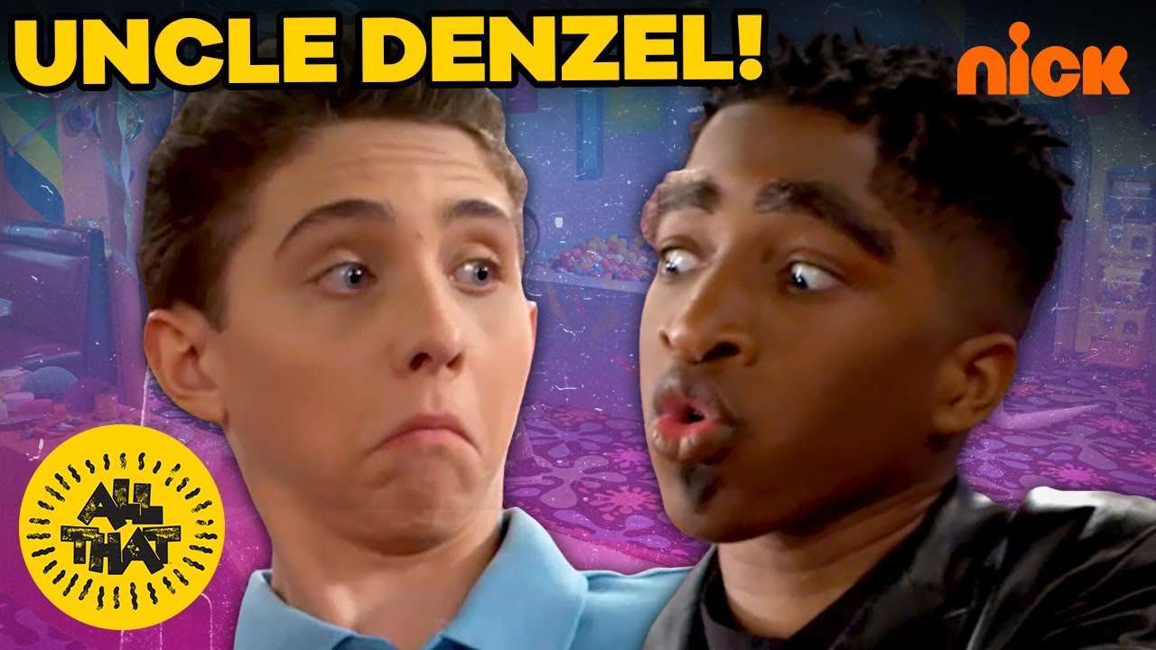 Uncle Denzel Washington Is The Party Police! | All That