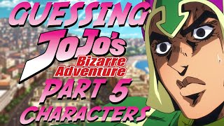 Guessing JoJo's Bizarre Adventure Characters - Part 5 Edition (ft. Nem)