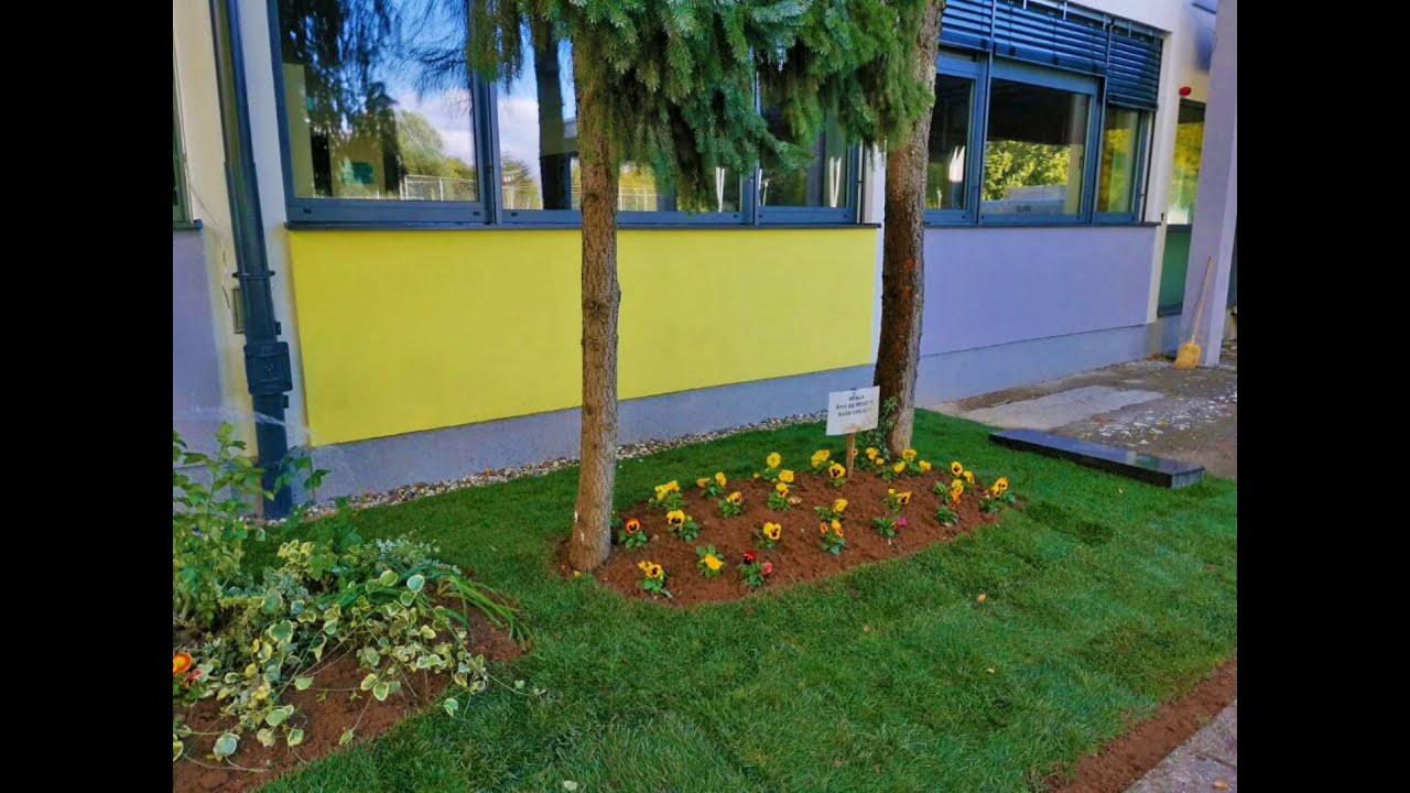 Uređivanje vrta škole u Zagrebu