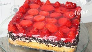Erdbeer Schmand Torte für Muttertag I Annelergünü icin cilekli pasta