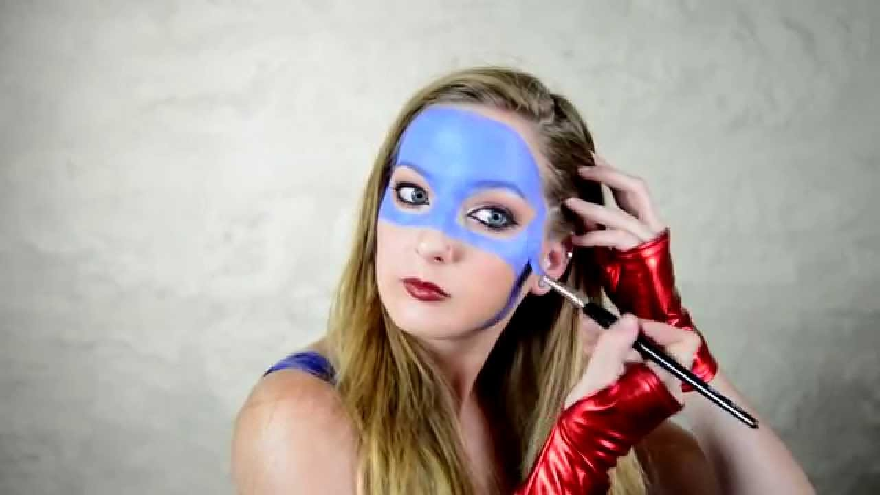 Captain Miss America Makeup Tutorial By Elsa Rhae - YouTube