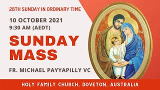 Sunday Mass | 10 OCTOBER 9:30 AM (AEDT) | Holy Family Church, Doveton
