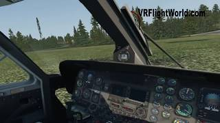 Sikorsky S-76 helicopter VR Flight in X-Plane 11 (Native VR on GTX 1060)