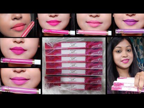 New MY GLAMM LIT Liquid Matte Lipstick Review And Swatches| LIT Liquid Matte Lipstick| #LIT