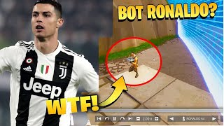1v1 vs real Ronaldo in Fortnite