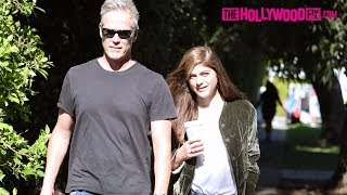 Selma Blair Speaks On Her Thanksgiving Plans While On A Walk With Her Boyfriend Ron Carlson 11.18.17
