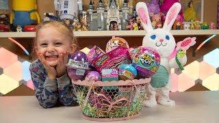 HUGE Easter Bunny Surprise Toys Easter Basket Eggs Fun Blind Bags Egg Toys for Girls Kinder Playtime