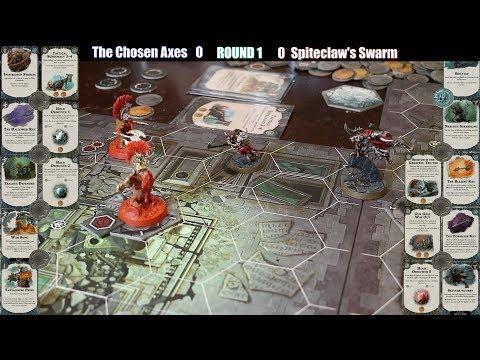 Shadespire - Chosen Axes vs Spiteclaw's Swarm - Warhammer Underworlds Battle Report