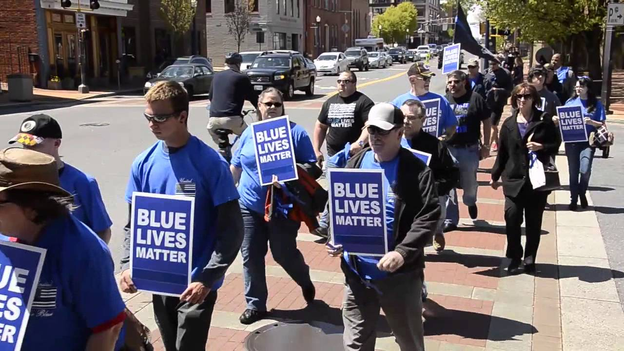 Blue Lives Matter Rally - YouTube