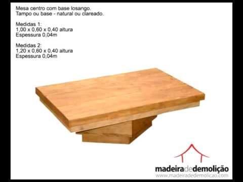 Mesas de Centro em Madeira de Demolição - Móveis Rústicos