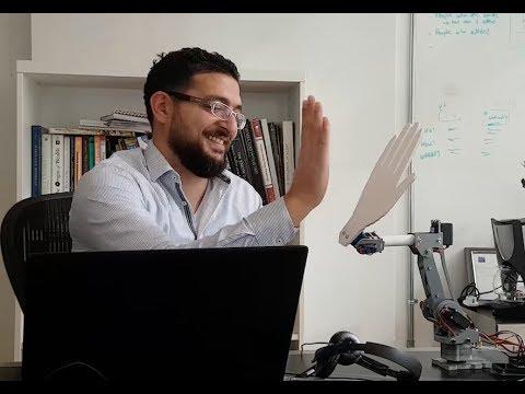 Mirum MEA COO Wissam Malaeb & Zero, the conversational robot