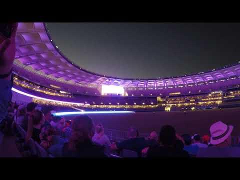 Perth Stadium - AC/DC Light Show