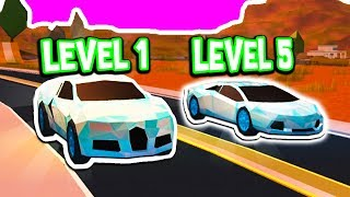 LEVEL 1 BUGATTI VS LEVEL 5 LAMBORGHINI IN ROBLOX JAILBREAK!!