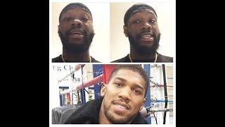 BREAKING NEWS! DEONTAY WILDER RESPONDS TO THE 'HATERS' FOR NOT TAKING THE ANTHONY JOSHUA FIGHT!